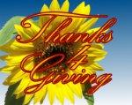 thx 4 giving sunflower